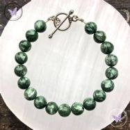 Seraphinite Healing Bracelet With Silver Toggle Clasp